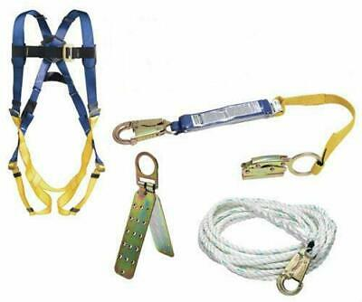 Werner K111201 Roofing Kit 50-foot Basic Pass-thru Buckle Harness 1per Pack