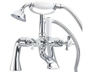 Victorian Traditional Bath Shower Mixer Tap With Shower