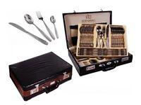 Edenberg 72 piece Cutlery Set with Lockable Briefcase