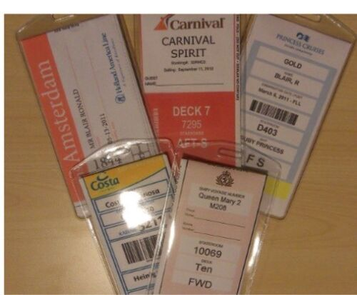2 Cruise Luggage Tag Holders Carnival, Princess, Holland Ame