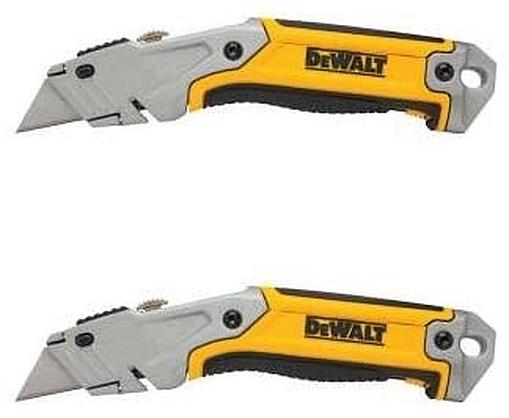 DeWalt Box Cutter Utility Knife Retractable Blade Storage Rapid Load – Set 2 Hand Tools
