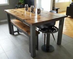 Belles tables DIRECTEMENT DE L'ARTISAN - mots clés: kitchen table table carrée ilea artemano wazo bois de grange