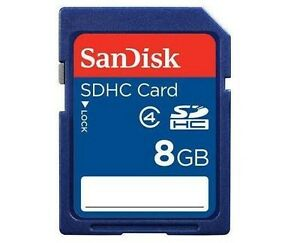 SanDisk 8GB SD 8G SDHC Secure Digital Card for Camera GPS Tablet Class 4 *Retail