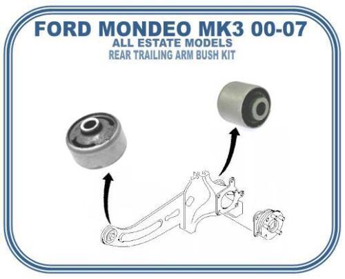 FOR FORD MONDEO MK3 ESTATE REAR TRAILING SUSPENSNION ARM BUSH KIT 2000-2007