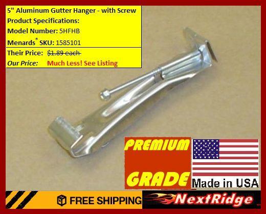 """50 Premium Aluminum 5"""" Inch Quick Screw Hidden Rain Gutte..."""