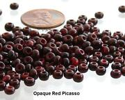 Red Czech Glass Beads