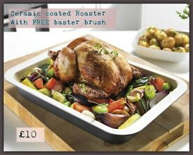 Light Weight non stick ceramic coated roasting tray