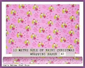 Fairy christmas wrapping paper 10metre
