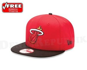 New-Era-9Fifty-MIAMI-HEAT-2Tone-Snapback-Hat-NBA-HWC-950-Two-Tone-Basketball-Cap