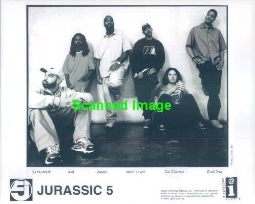 Press Photo: JURASSIC 5 8x10 B&W 2000