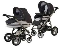 Bebecar ipop 3 in 1 travel system pushchair pram