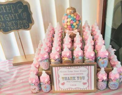 24 Fillable Bottles for Baby Shower Favors Blue Pink Party Decorations Girl Boy Pink Baby Shower Favor