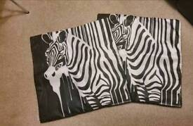 Zebra cushion covers
