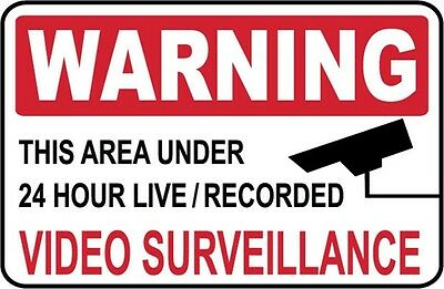 2 - Warning - Video Surveillance Signs  2 Decals - Ps-51314...large..