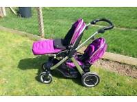 Oyster max mirror double/tandem buggy