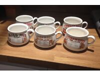 6x retro soup cups