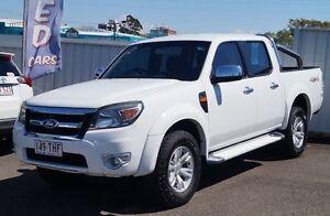 2009 Ford Ranger PK XLT Crew Cab White 5 Speed Automatic Utility Bundaberg West Bundaberg City Preview