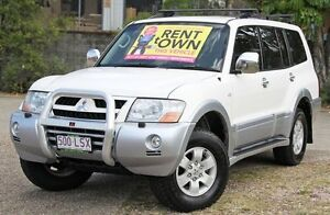 2004 Mitsubishi Pajero NP MY04 Exceed White 5 Speed Sports Automatic Wagon Underwood Logan Area Preview