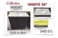 "(442-21)  VANITÉ 36""/Salle de Bain /Collection ""WOODCAND""  399$"
