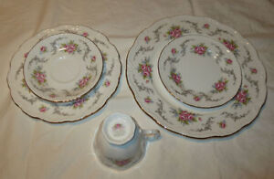 New Royal Albert Tranquillity 4 placesettings