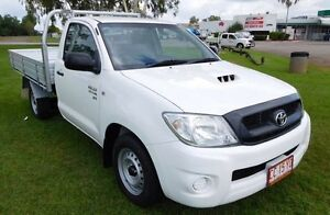 2011 Toyota Hilux KUN16R MY10 SR White 5 Speed Manual Cab Chassis Hidden Valley Darwin City Preview