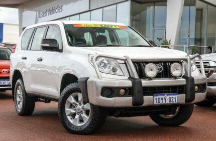 2012 Toyota Landcruiser Prado KDJ150R GX Glacier White 5 Speed Sports Automatic Wagon
