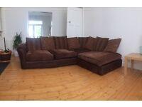 Large fabric corner sofa £150