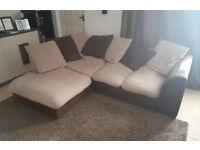 L shape fabric corner sofa