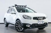 2012 Nissan Dualis J10 Series II MY2010 +2 X-tronic AWD Ti White 6 Speed Constant Variable Hatchback Myaree Melville Area Preview