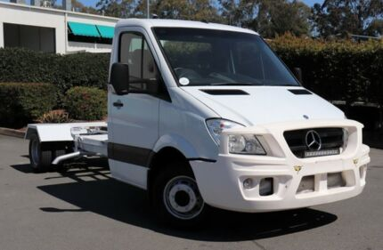 2011 Mercedes-Benz Sprinter 906 MY10 519 CDI LWB White 5 Speed Automatic Cab Chassis Acacia Ridge Brisbane South West Preview