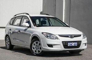 2010 Hyundai i30 FD MY10 SX cw Wagon White 4 Speed Automatic Wagon East Rockingham Rockingham Area Preview
