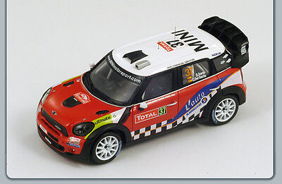 (Mini John Cooper Works WRC No.37 2nd Monte Carlo Rally 2012 S3312 Spark 1:43 New)