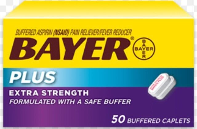 Bayer Plus Extra Strength 50 Buffered Caplets 500 mg Exp COLLECTABLE ONLY