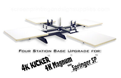 Silk Screen Printing Press Upgrade 4 Station Base - Magnum Kicker Springer Sp