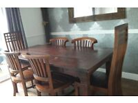 Made by *ANTEAK*, dining room table and 6 chairs
