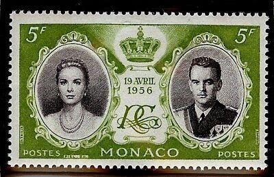 MONACO #369 MNH VF OG 5F Princess Grace Prince Rainier Royal Wedding 1956