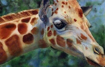 BIG Giclée on Canvas Giraffe Safari Africa Painting Art theme nursery decor big  ()