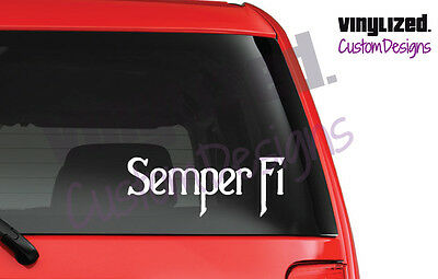 Marine Corps  Semper Fi USMC Vinyl Car Truck Window Decal Sticker