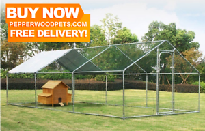 Giant WALK IN Chicken Coop! Cat Enclosure Dog Exercise Pen Rabbit
