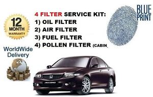 For Honda Accord 2 3 Type V 2001 2003 Oil Air Fuel Pollen