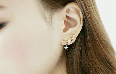 1Pair Elegant Crystal Rhinestone Ear Stud Earrings Fashion Women Lady Jewelry