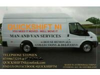 Man and jumbo Van for hire based Antrim / Ballymena, House removals ect, Available at short notice