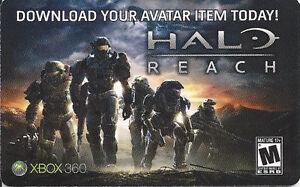 DLC Rare Halo Reach Banshee Avatar Code Card Microsoft Xbox 360 Live