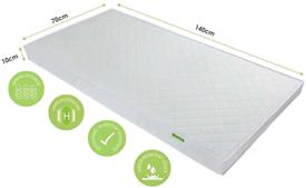 New Unused Mother Nurture Luxury Spring Cot Bed Mattress 140x70cm