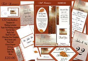 Fall-Romance-Wedding-Invitation-Templates-on-CD