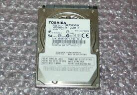 Toshiba MK2555GSX - hard drive - 250 GB - SATA 3Gb/s
