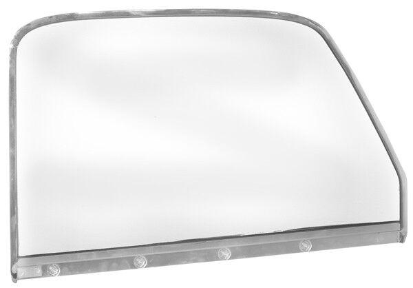 1947-50 Chevrolet Pickup Door Window Glass Chrome w/ Trim - LH New