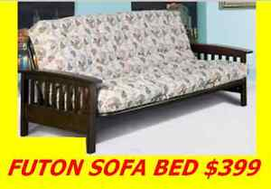 SOFA BED FUTON EXPRESSO WOOD AND BLACK METAL VERY STRONG $399 Oakville / Halton Region Toronto (GTA) image 3