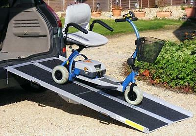 6ft Electric Scooter Wheelchair Folding Car Loading Ramp Splits in 2 & Folds