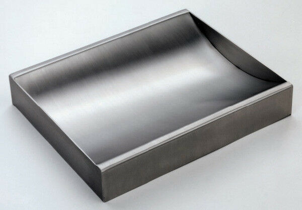 "Stainless Steel Countertop Deal Tray, Brushed Finish, 12"" (w) x 10"" (d)"